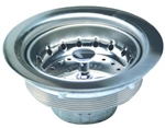 Everflow, 7512, Heavy Duty Chrome Plated Brass, Basket Sink Strainer