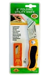 "H.B. Smith Tools, 79202, 1 Folding Utility Knife , Knives, 6"", Quick Change Blade, 5 Blades, ASSTD Colors"