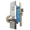 Marks New Yorker 7NY10A/26D, Left Hand Satin Chrome Mortise Entry Lock Set, Screwless Knobs Thru-Bolted Lockset