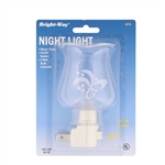 Bright Way, 870, White, Decor Style Hurricane Shade Night Light, Manual On Off Switch