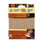 3M, 9223NA, 4.5-Inch x 5.5-Inch Clip-On Palm Sander Sheets, Assorted, 6-pack
