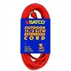 Satco Products 93/5010 14/3 Gauge SJTW-3 Outdoor Extension Cord with Sleeve, Orange, 100-Foot