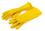 My Helper, 931S, Small, One Pair, Yellow, Household Reusable Latex Glove