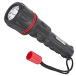 Tuff Stuff 96078 Heavy Duty 3-LED Weather And Shock Resistant Flashlight With Rubber Ergo Grip Includes 2 AA Batteries