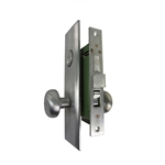 Gotham (Marks 114A/26D Like) 9900LAKSC Left Hand Heavy Duty Satin Chrome 26D Mortise Entry Lockset, Screwless Knobs Thru Bolted, Lock Set