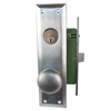 Gotham (Marks 91A/26D Like) 9900LSC Left Hand Heavy Duty Satin Chrome 26D Mortise Entry Lockset, Surface Mounted Screw-on Knobs Lock Set
