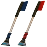 "Hopkins 996-35 Mallory Maxx X35 35"" Anodized Clear Aluminum Handle Long Reach Snow Brush with Foam Grip and Ice Scraper (Colors may vary 1 Per Order)"