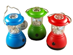 H.B. Smith Tools, 9MLED, 9 LED Bulbs, 1 Mini Lantern, 3 Operating Modes, Flashlight, Assorted Colors