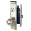 Marks New Yorker 9NY10DW/26D, Left Hand Satin Chrome Mortise Lock Knob Vestibule Function Always Locked Storeroom Latch Only Lockset, Screwless Knobs Thru Bolted Lock Set