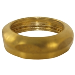 "Durst Solid Rough Brass Finish 1-1/2"" x 1-1/2"" Brass Slip-Joint-Nut"