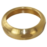 "Aqua Plumb 3100200 Rough Brass Finish 1-1/2"" x 1-1/2"" Brass Slip-Joint-Nut"