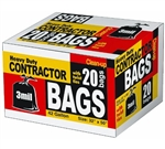 H.B. Smith Tools, API20, 20 Count, 42 Gallon, 3 Mil, Black, Heavy Duty Contractor Trash Bag