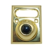 Lee Electric, BC202, Brass, Wired Classic Unlighted Push Button With Namplate, With Black Button For Bell