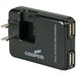 Cooper BP450 Black 2 Port USB Charger Adapter