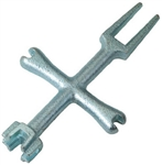 Aqua Plumb, C1106A, 4 Way P.O. Plug Wrench