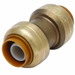 "PipeBite, CC10000, 1/2"" x 1/2"", Lead Free Coupling, (Sharkbite Like) Push Fit Fittings For Use With Copper Tubing CTS, CPVC & Pex With Integral Tube Liner Included"