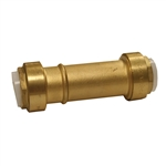 "PipeBite, CC10110, 1/2"" x 1/2"", Lead Free Slip Coupling, (Sharkbite Like) Push Fit Fittings For Use With Copper Tubing Copper Tube Size And CPVC"