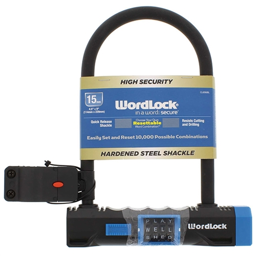 Wordlock Cl 656 As 8 Combination Resettable 4 Dial U Lock Bike
