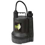 Eco-Flo ECFSUP55 1/4 HP SUBMERSIBLE UTILITY PUMP - THERMOPLASTIC CONSTRUCTION - GARDEN HOSE ADAPTER INCLUDED - UP TO 1980 GPH