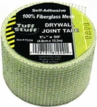 "Tuff Stuff, FG250, 2"" x 50', White, Self Adhesive, Fiberglass, Mesh Drywall Joint Tape"