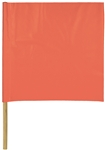 "Hygrade Safety, FN-180, 18"" X 18"" Orange Vinyl Coated Safety Warning Flag With 24"" Dowel"