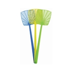 FlyGuard FS1011 Fly Swatter 1 Piece Flexible All Plastic Head and Handle Asst Colors