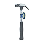 H.B. Smith Tools, GH99, 8 OZ, Claw Hammer, Tubular Steel Metal Handle With Comfort Rubber Grip