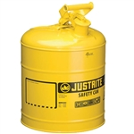 Justrite 7510200 Yellow 5 Gallon Justrite Type I Metal Diesel Can