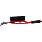 "Tuff Stuff, LGT52862, 21"" Deluxe Snow Brush With 4"" ABS Ice Scraper Head And Soft Cushion Grip Strong Plastic Handle"