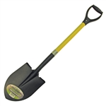 Tuff Stuff 52912 Round Point Shovel With Heavy Duty D-Grip Fiberglass Handle