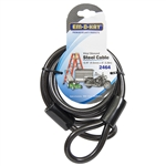 "Em-D-Kay 2464 Vinyl Sleeved 3/8"" x 6' Steel Cable Bike Lock"