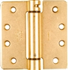 "National, N185-207, 4"" x 4"", Brass Adjustable Spring Hinge, Round Corner"