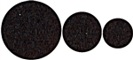 National, N237-081, 64 Pack,  Assorted Sizes, Black, Round Self Adhesive Felt Pads