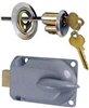 National, N280-784, Chrome, Metal Lock Cylinder & Interior Bolt Garage Door Deadbolt