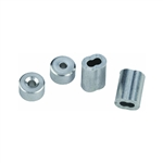 "National, N283-861, V3231, 2 Pack, 3/16"" Aluminum Ferrules Swag Sleeves & Stops"