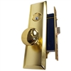 Guard Security (Marks 114A Like) P8888LAK Left Hand Polished Brass US3 Mortise Entry Lockset, Screwless Knobs Thru Bolted, Lock Set