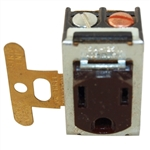 Pass & Seymour 1332 Brown 15A 125V Despard Outlet Receptacle, 3 Wire Grounded