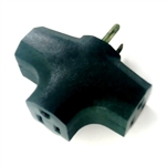 Power Cords & Cables PCC, PCC-3406GRN, Green, 15A, 125V, 3 Way Outlet Wall Plug Cube Adapter Tap