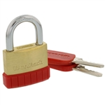 Wordlock PL-122-A1 Match Key 40mm Brass Padlock 1 Assorted Color Per Order (Black, Blue, Green & Red)