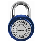 Wordlock PL-130-A1 STANDARD Text Lock Combination Dial Padlock 1 Assorted Color Per Order (Purple, Silver & Blue)