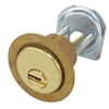 "Mul-T-Lock, RIM1VT-05, Brass, Solid Brass Replacement 1-1/8"" Rim Cylinder Lock For Jimmy Proof Deadlock, HIGH SECURITY, 006 KEYWAY"