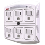 Stanley Surge Pro 6 NT 33208 750 Joule 6-Outlet Surge Protected Wall Adapter With Photocell Night Light and Child Outlet Safety Covers