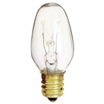 Satco S3791 120V 2/Card Candelabra Base 7-Watt 7C7 Night Light Bulb, Clear