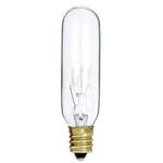 Satco, S3912, 15W 145V T6 Clear E12 Candelabra Base Incandescent light bulb