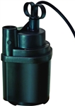 Aqua Plumb, SUP14A, Automatic Water Sensing Submersible Utility Pump, 1/4 H.P., Flow Rate 1,740 GPH Lift 25 Feet
