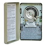 Tork 1101 - 24 Hr. Dial Time Switch - NEMA 1 Indoor Steel Case - SPST - 40 Amps - 120 VAC