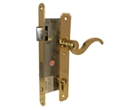 "TACO Trans Atlantic DL-ML800 Series, Brass, Right Hand, Heavy Duty Solid Brass Atrium style Mortise Lock, Single Cylinder Mortise Entry Lever Handle Plate Trim Set, Narrow Style Storm Door Lockset with 1-3/4"" Backset Lock Set"