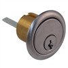 "Taylor USA 7015SC8-26D Satin Chrome 26D Solid Brass Replacement 1-1/16"" Rim Cylinder Lock, SC1 Schlage Keyway"