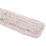 "Tuff Stuff DMH0524 Dust Mop Head Fringed Cotton 5""X24"" Polybag"