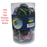 "Tuff Stuff 91600 1/4"" X 3' Rubber Tape Measure With Key Chain, Keychain loop so you can keep it with your keys, Tape rule extends 3 ft. so you can measure most small projects, Lightweight."